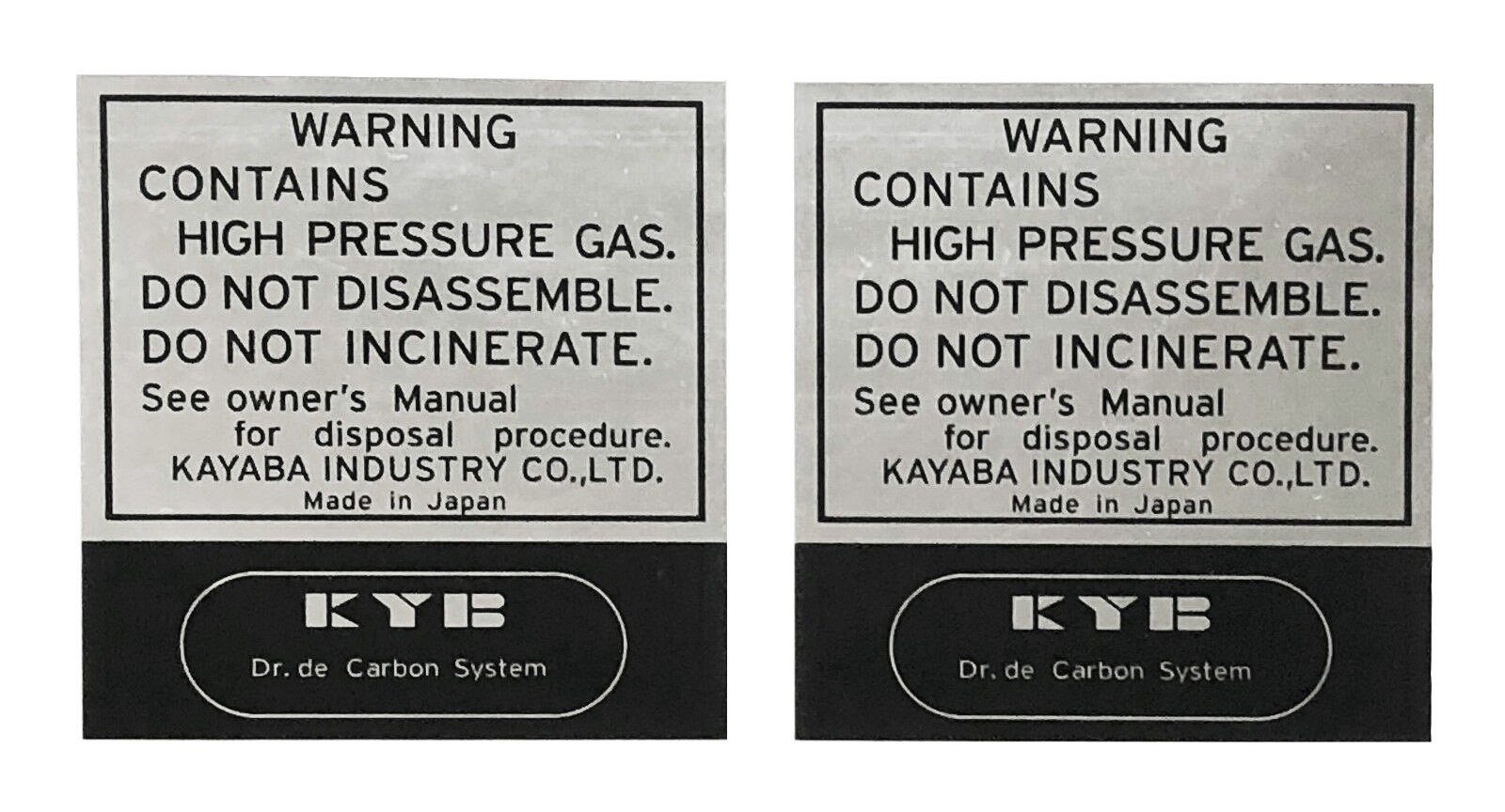 YAMAHA XT500 TT500 KYB Rear Shock Absorber Decal Sticker Kit SET RH LH 5-038