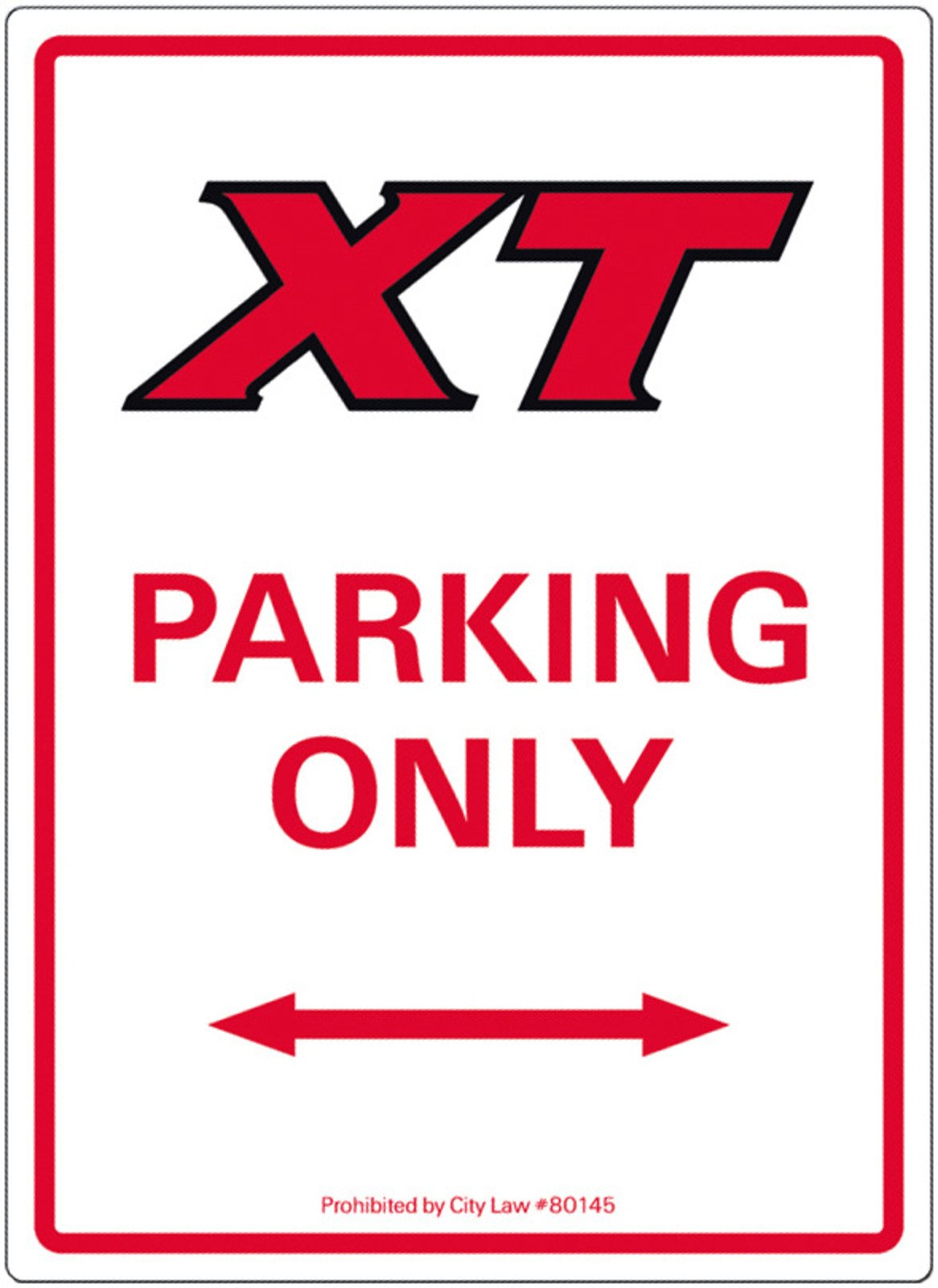Yamaha XT500 Sign XT PARKING ONLY 16x22cm Aluminum 1-115