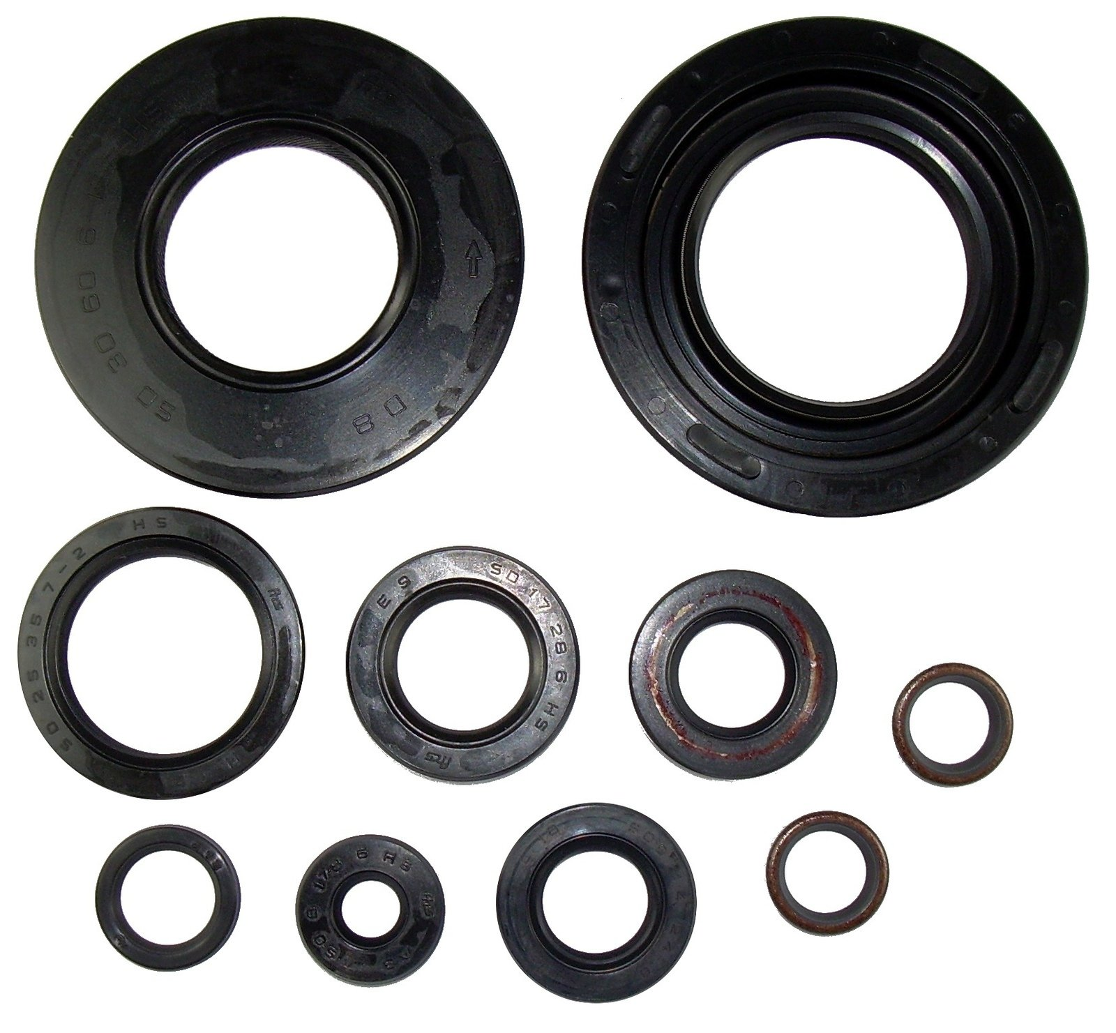 Yamaha 1978-1981 SR500 Engine Shaft and Oil Seal Kit, 10 Pcs, 02-043