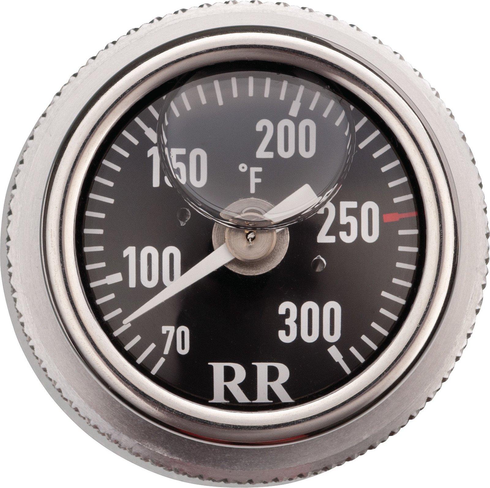 Oil Dipstick Thermometer Gauge for Yamaha SR400, SR500, TT500, XT500, Fahrenheit, Black Face, 99-081