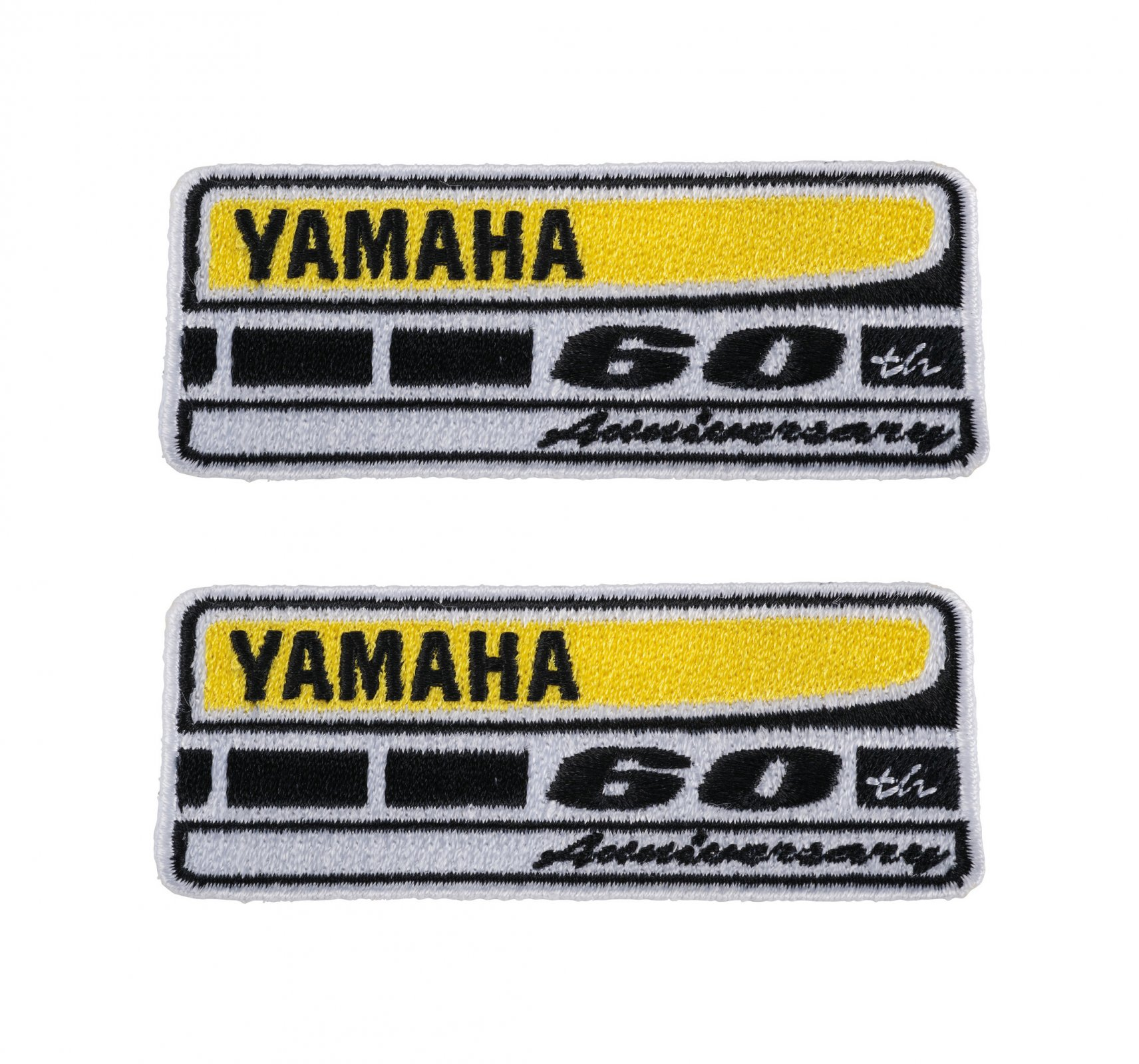 Yamaha 60th Anniversary Patch 6.5x3.5cm (Adhesive) 2 pieces 100% Cotton 80102
