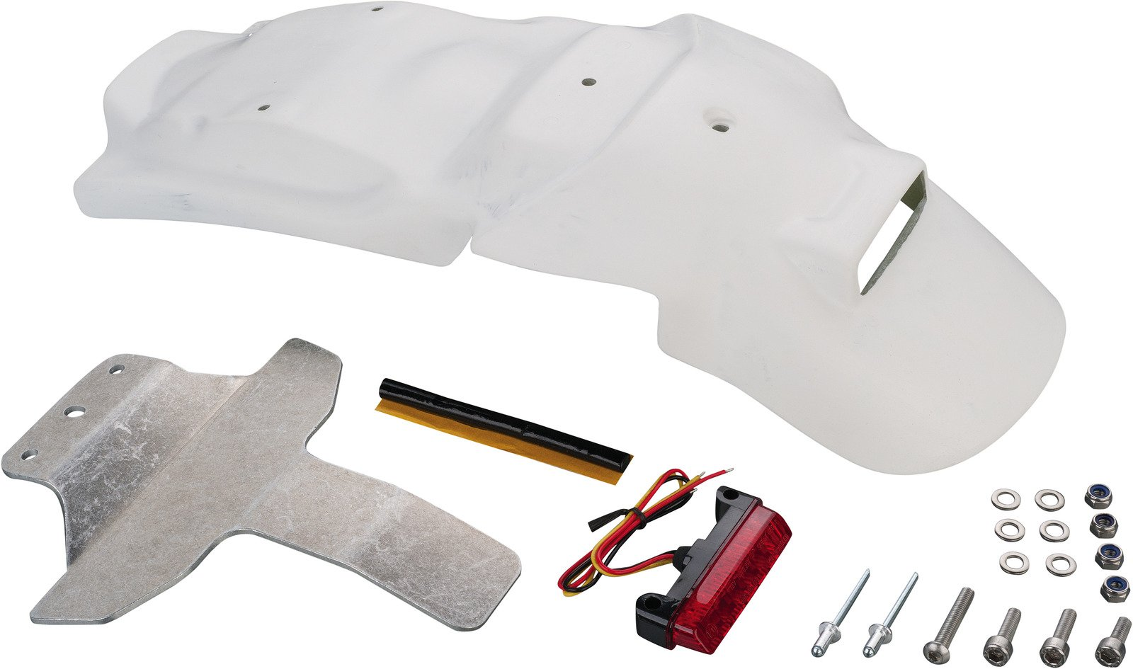 Triumph JvB-Moto Rear Fender incl. LED Tail Light & Mounting Material JVB0014