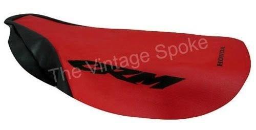 HONDA CRM250 RED GENUINE REPLICA SEAT COVER W/ STRAP 016SC