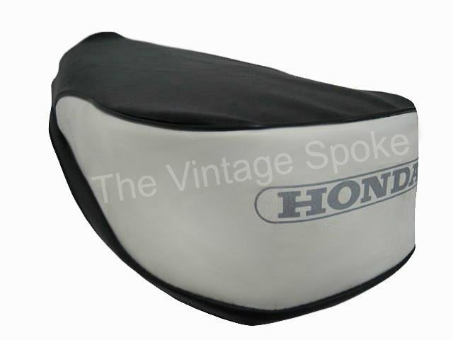 HONDA PASSPORT C50 C70 C90 2-TONE BLACK AND WHITE GENUINE REPLICA SEAT COVER 038SC