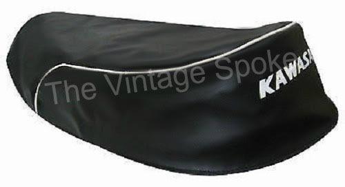 KAWASAKI A1 A1SS A7 A7SS 1966-1971 GENUINE REPLICA SEAT COVER WITH STRAP 066SC