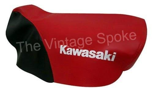 KAWASAKI KSR KSR1 KSR2 KSR50 KSR80 RED AND BLACK GENUINE REPLICA SEAT COVER 084SC
