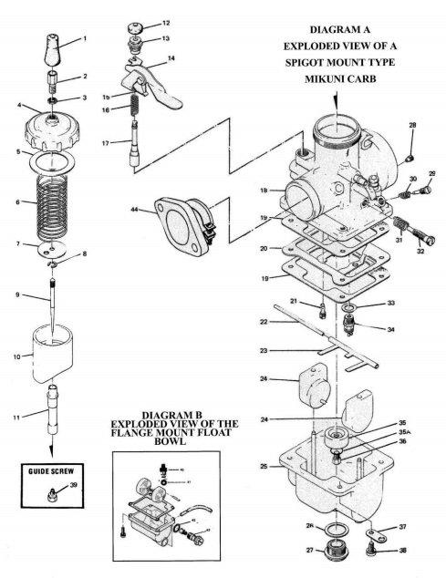 Mikuni Vm3809 Main Jet Extender Guide Screw