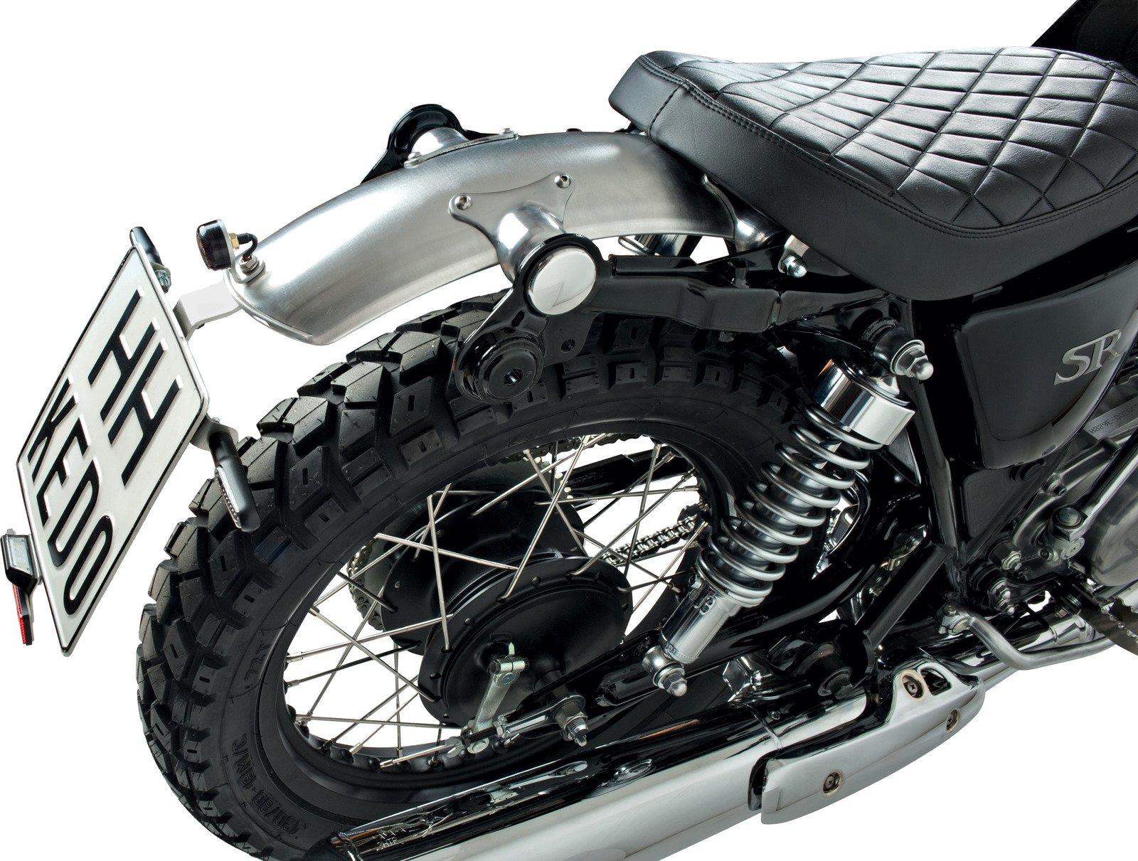 Yamaha SR400 & SR500 Wrenchmonkees Gibbonslap Aluminium Rear Fender incl. Mounting Brackets 4-077