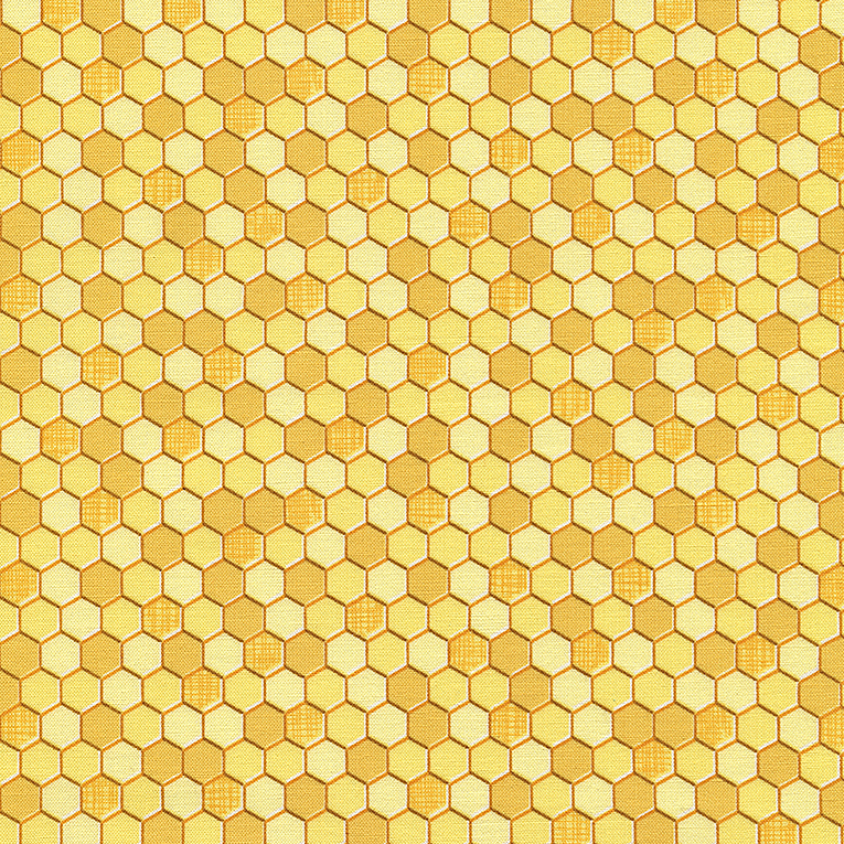 Honey Comb Fabric, Bees, Yellow Fabric, Bee Fabric, Honey Bees by Timeless Treasures, 01083A