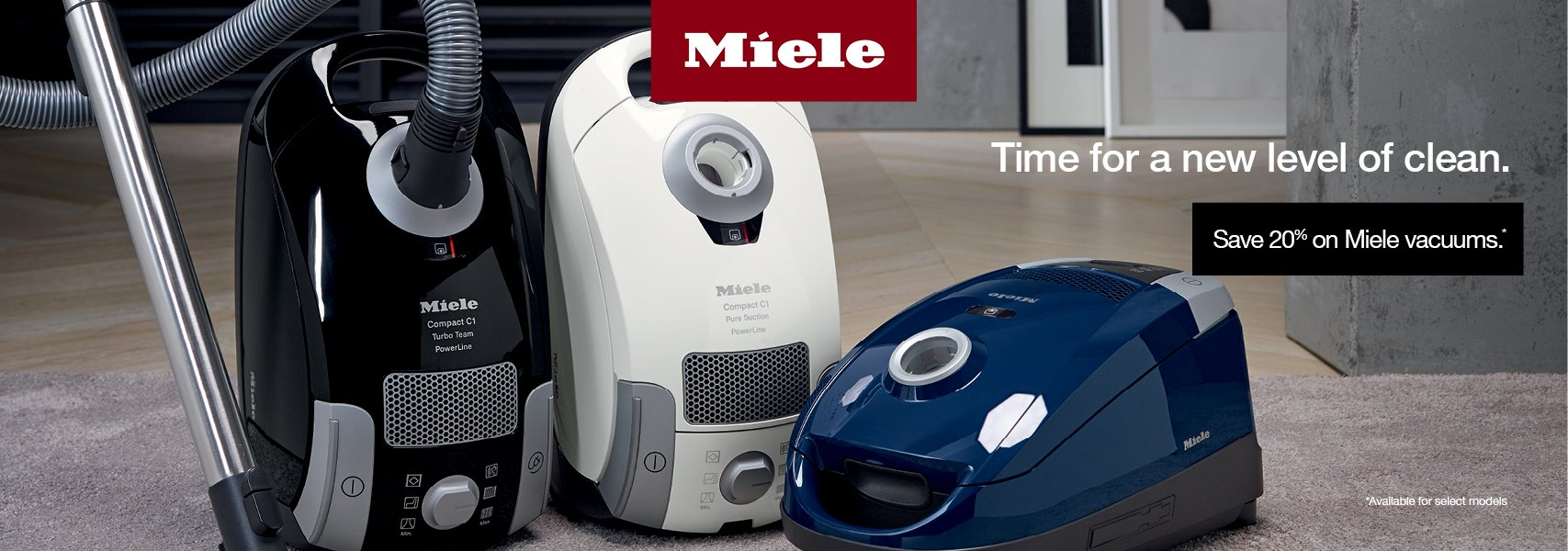 20% off Miele vacuums at Electric Hospital.