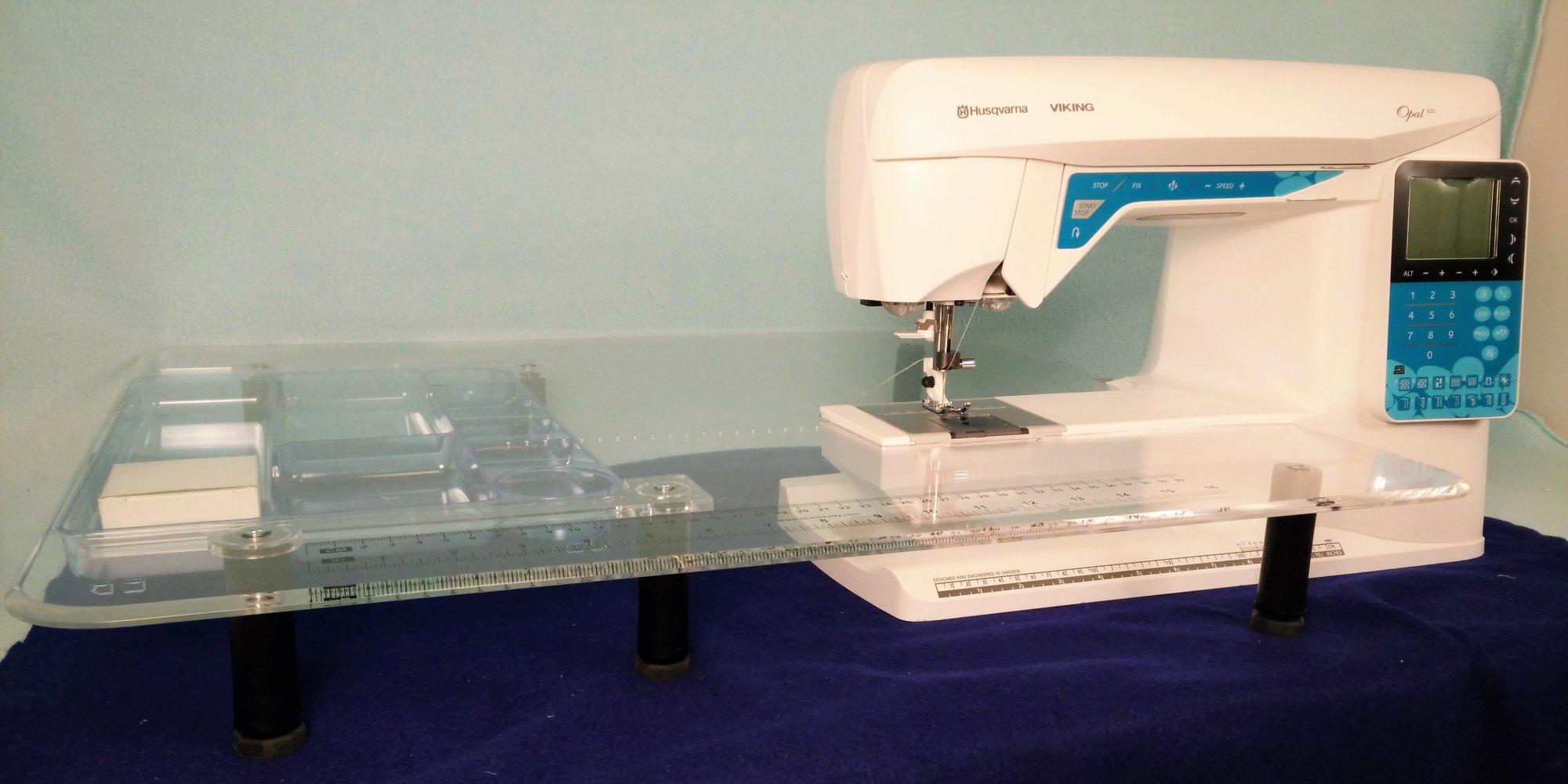 Rebuilt Viking Opal 650 W Sew Steady Wish Table