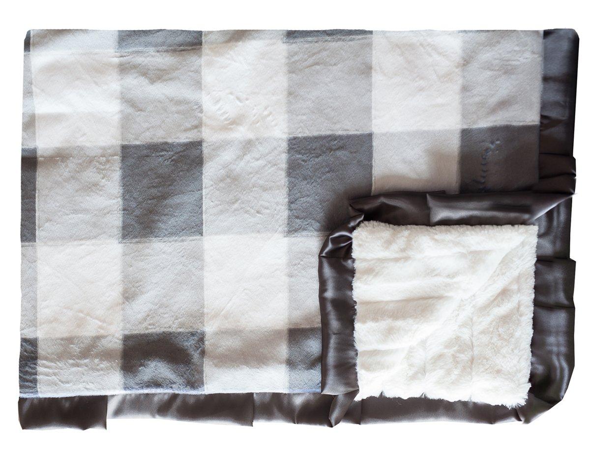 Buffalo Check Charcoal - Cream - Black