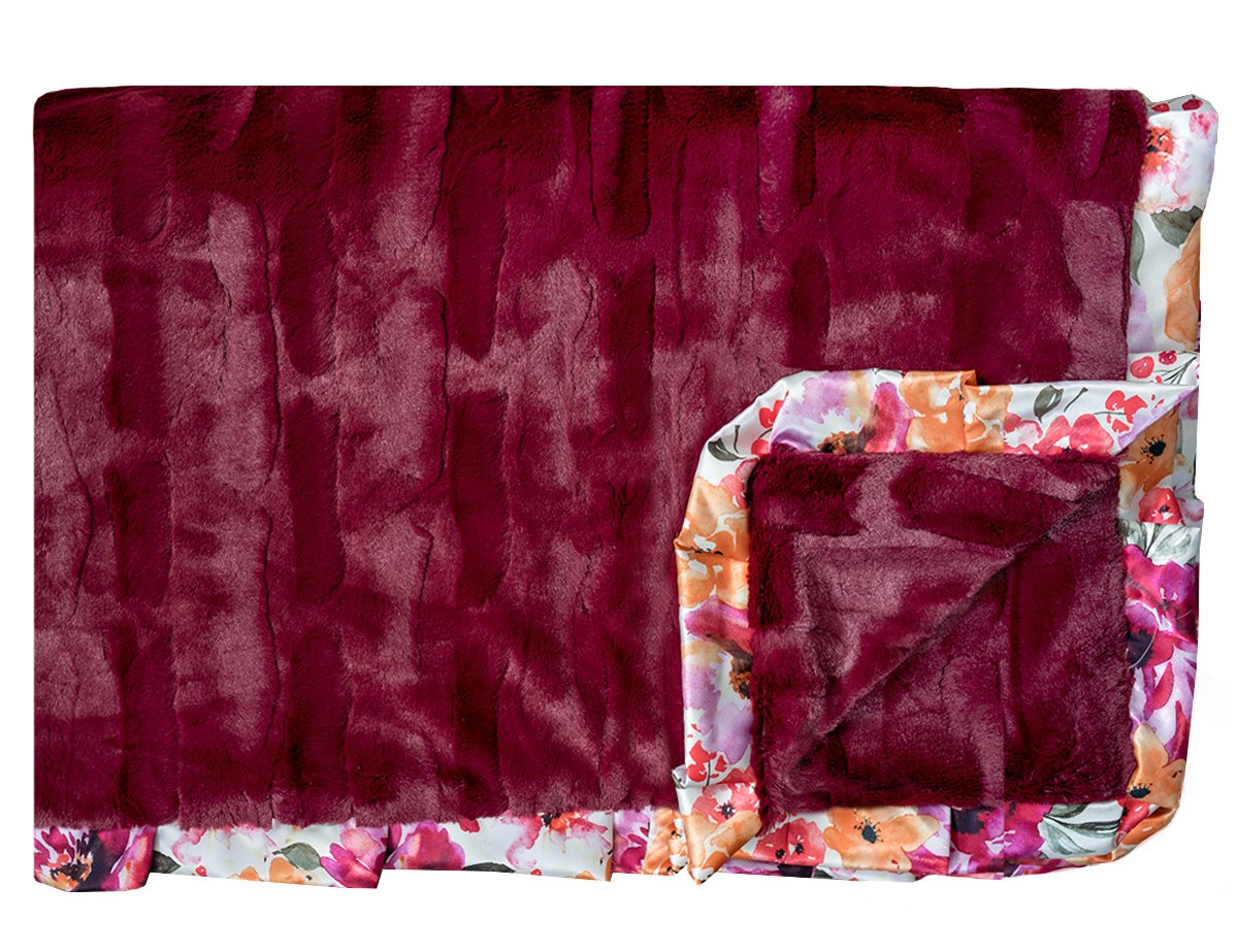 Framed in Floral - Mulberry
