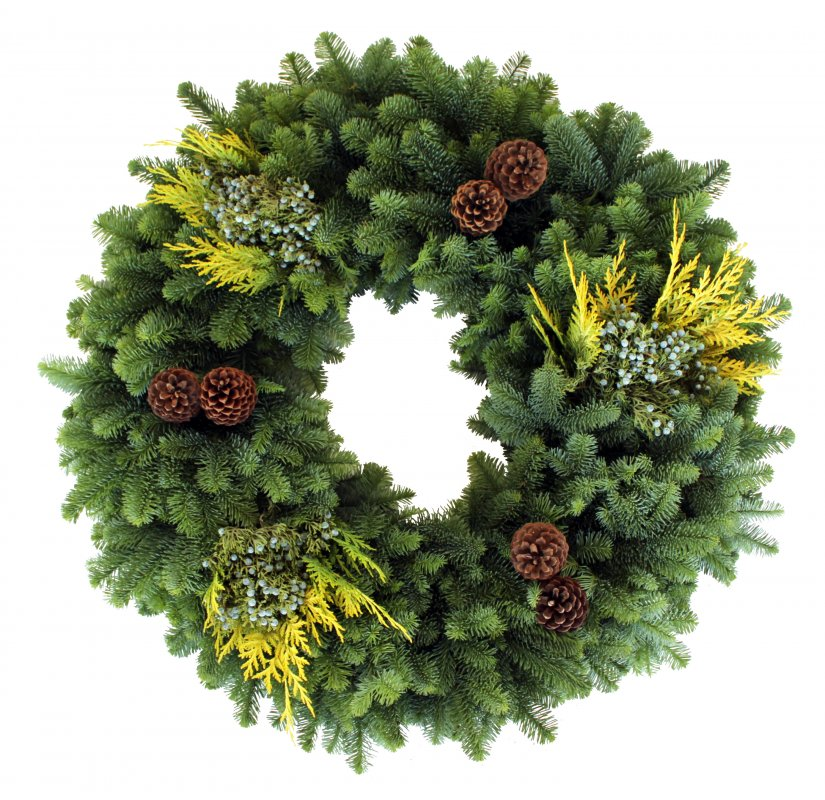 36 Supreme Mixed Noble Fir Wreath