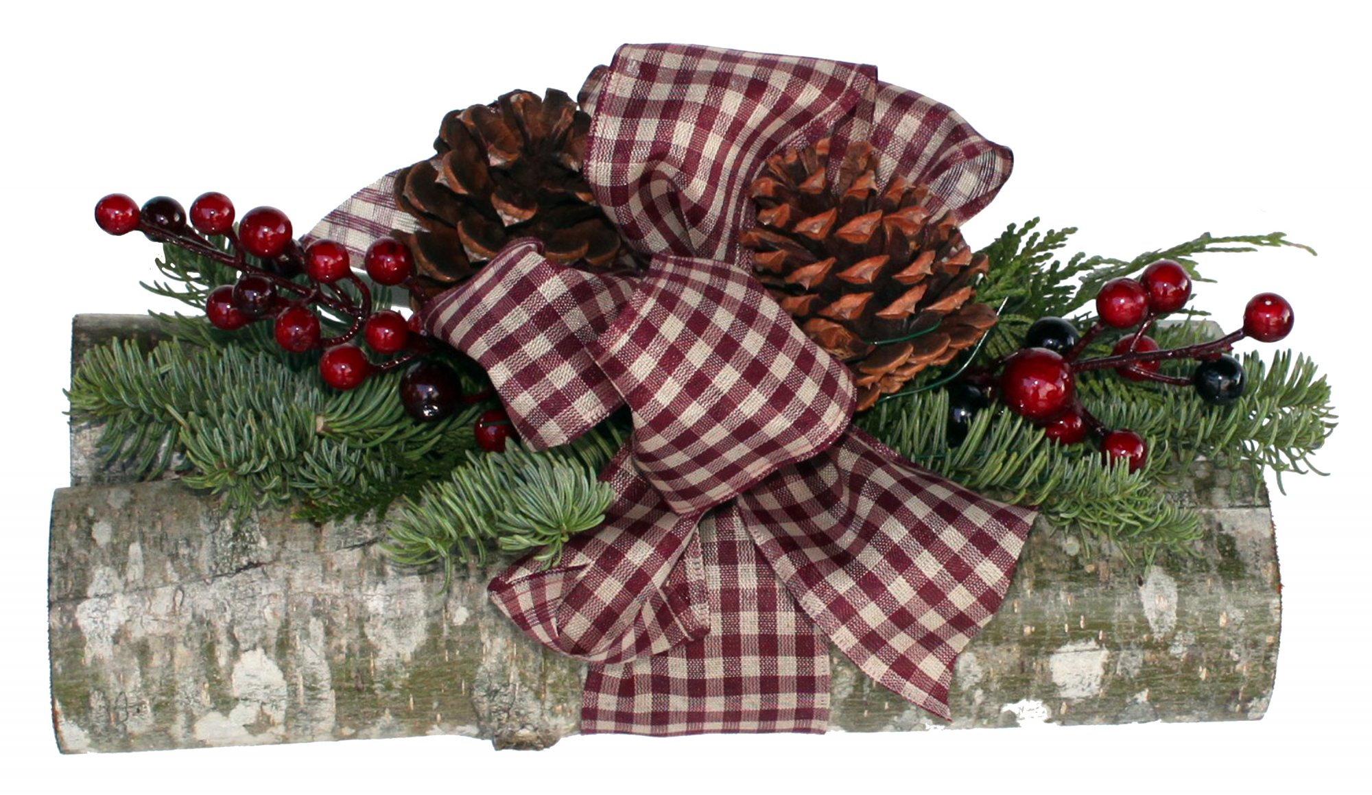 Holiday Log Decoration