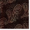 Rayon Pinpoint Paisley Midnight Sand Storm