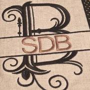 Split Letter Monograms CD