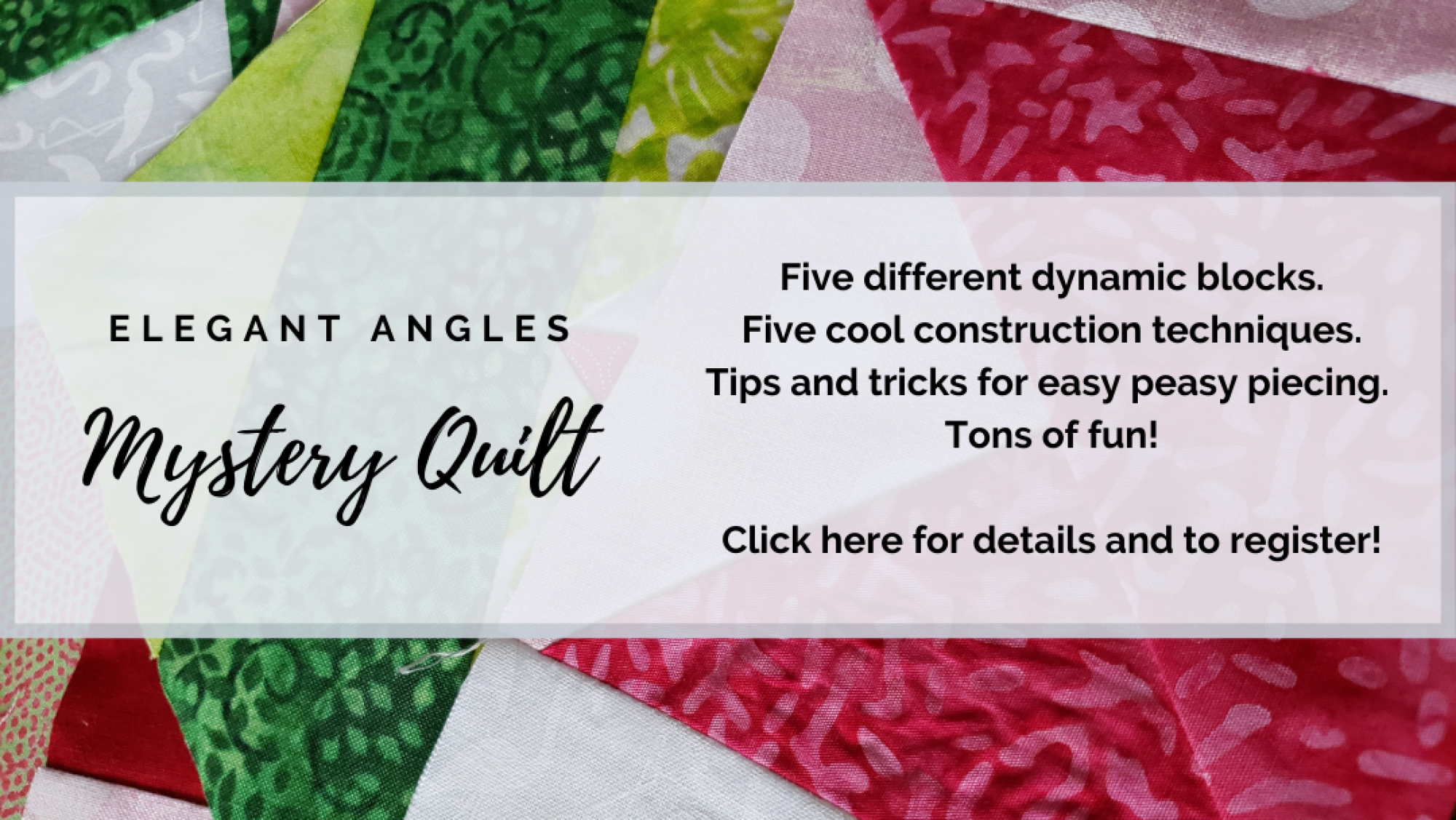 bee's quilt shop st augustine florida elegant angles mystery quilt class