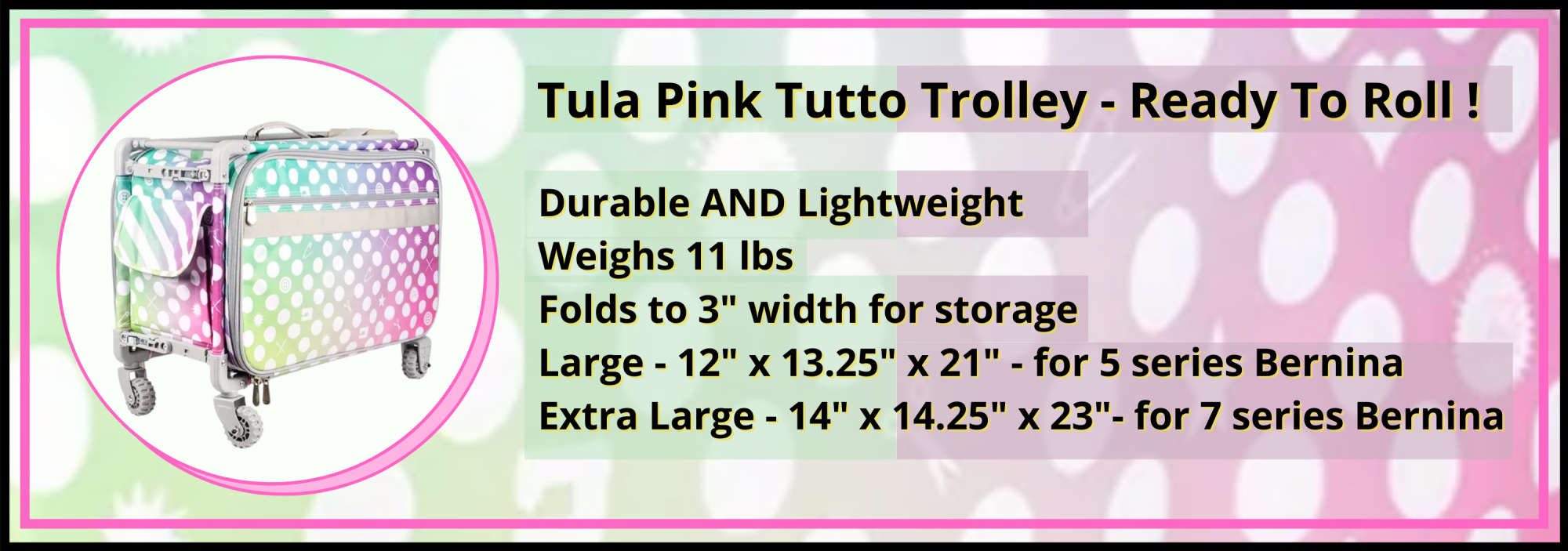 bees quilt shop st augustine tula pink tutto trolley
