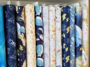 bee's st augustine beach is my happy place fabric