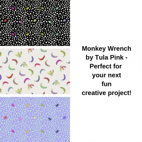 bee's quilt shop tula pink fabric monkey wrench