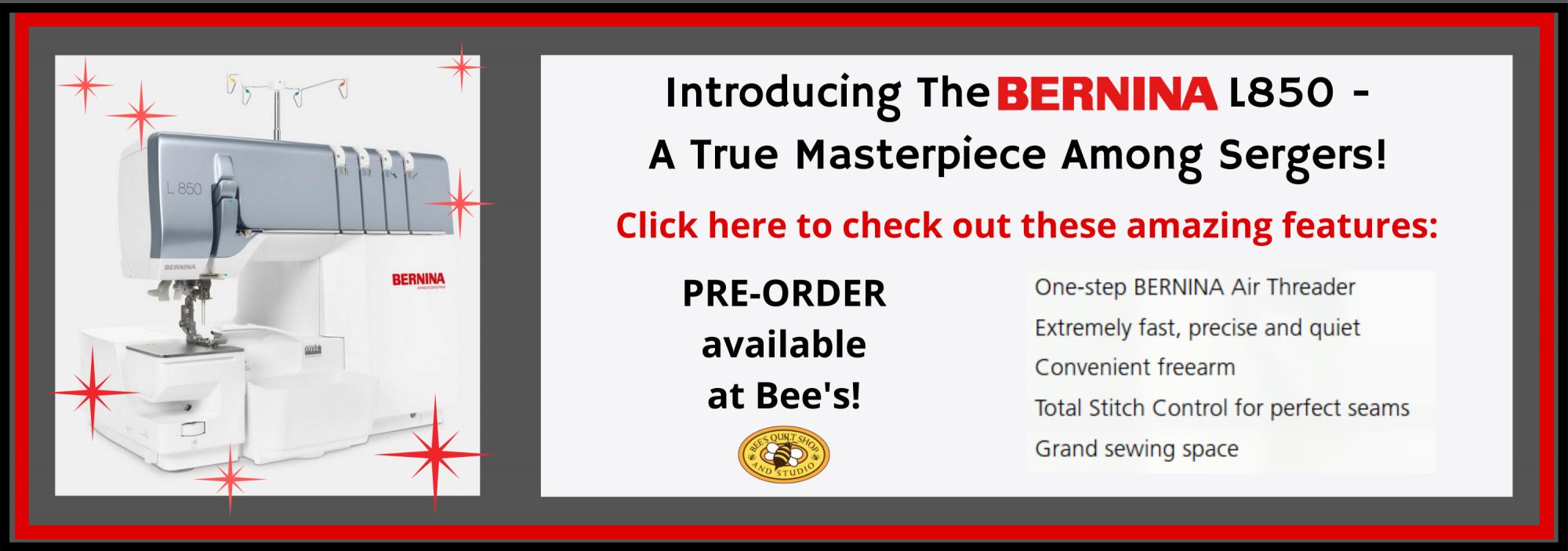 bee's quilt shop st augustine bernina machine