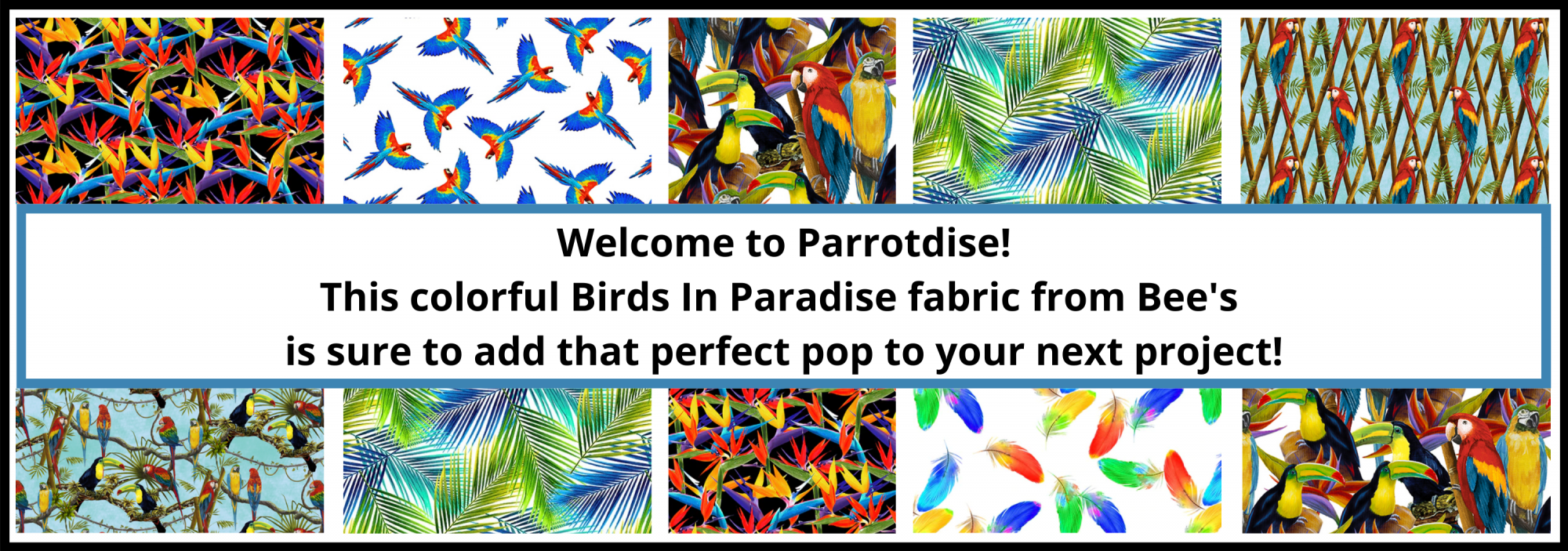 bee's quilt shop st augustine henry glass fabrics birds in paradise