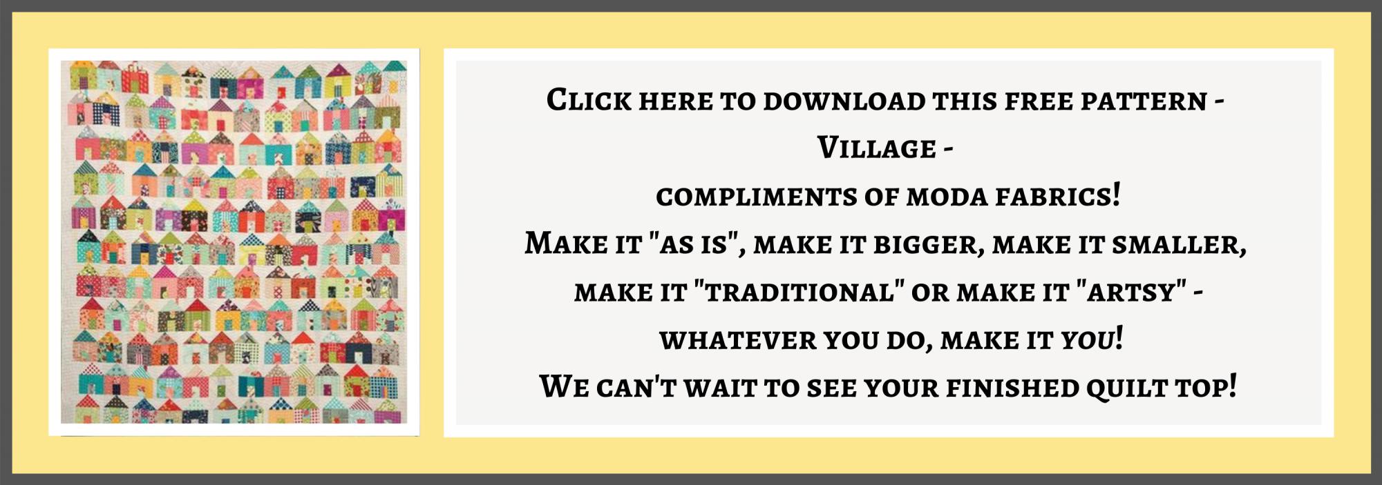 bee's quilt shop st augustine moda village free quilt pattern