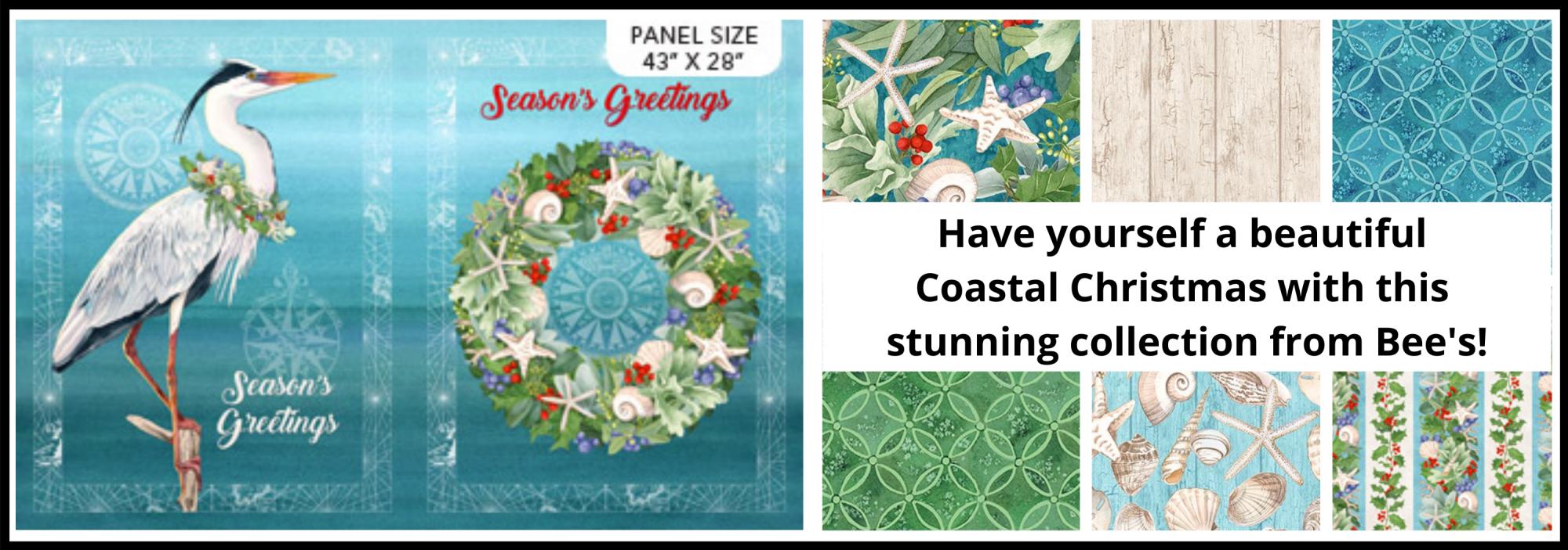 bee's quilt shop st augustine northcott fabrics coastal christmas
