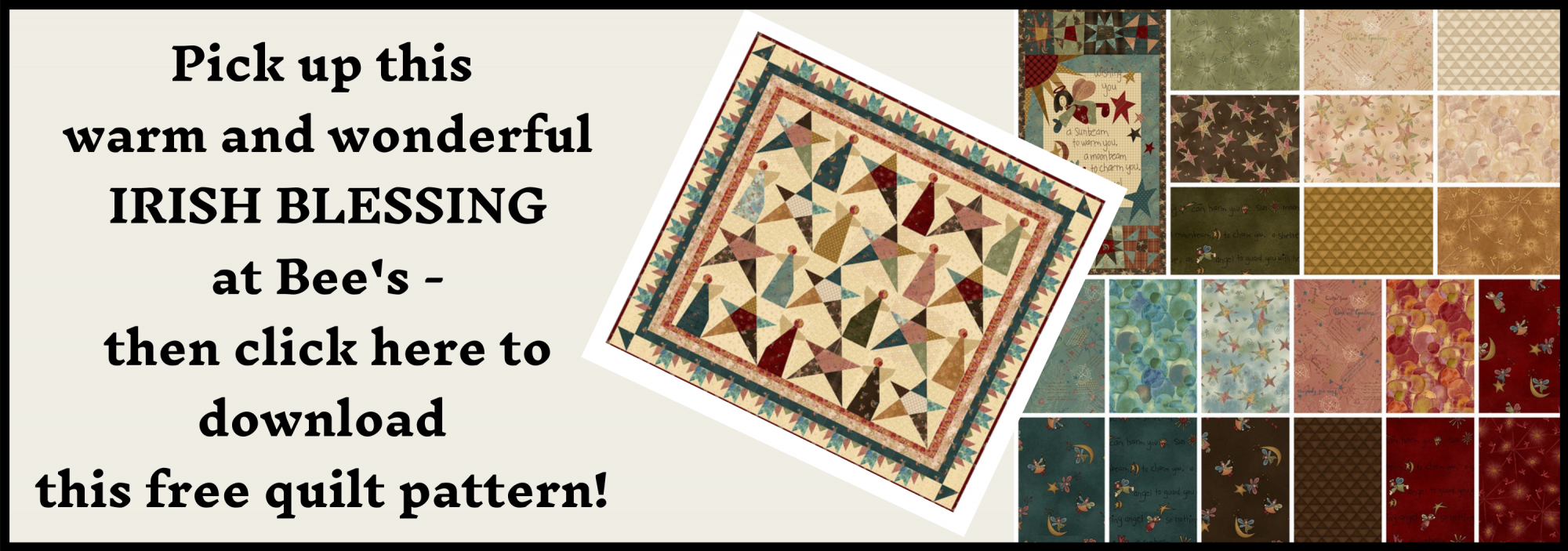 bee's quilt shop st augustine henry glass fabrics irish blessing