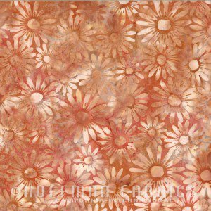 *Daisies Coral - Bali Batik