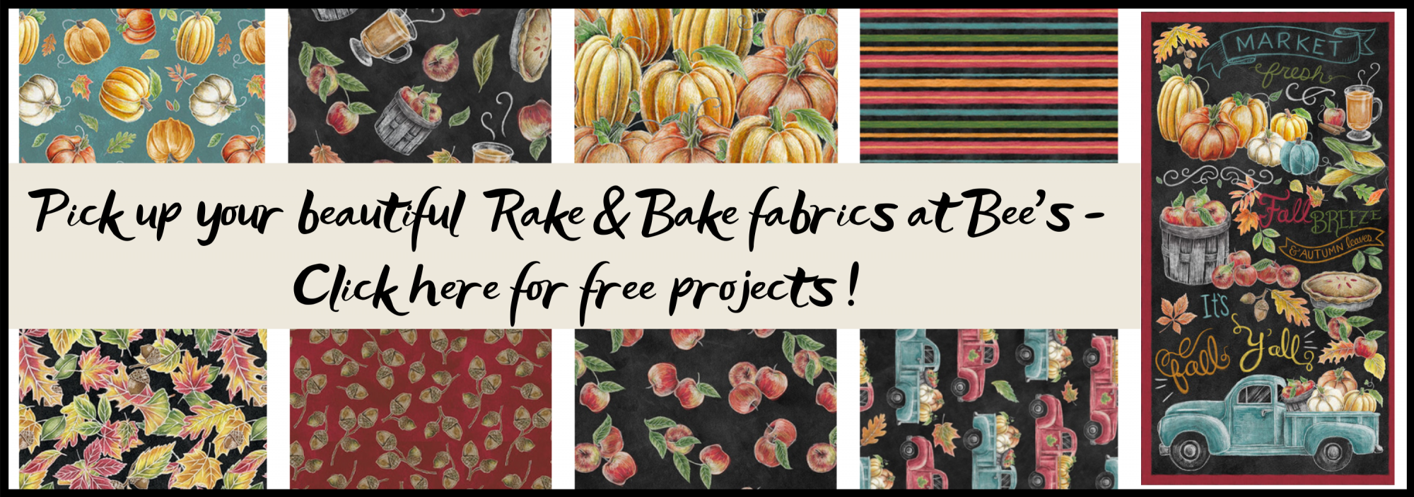 bee's quilt shop st augustine blank fabrics rake and bake
