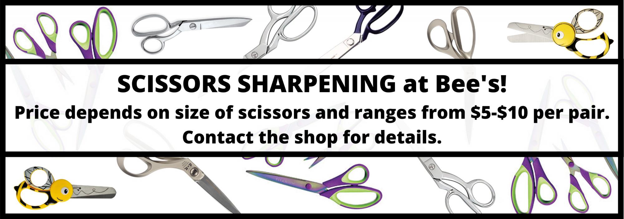 bee's quilt shop st augustine scissors sharpening