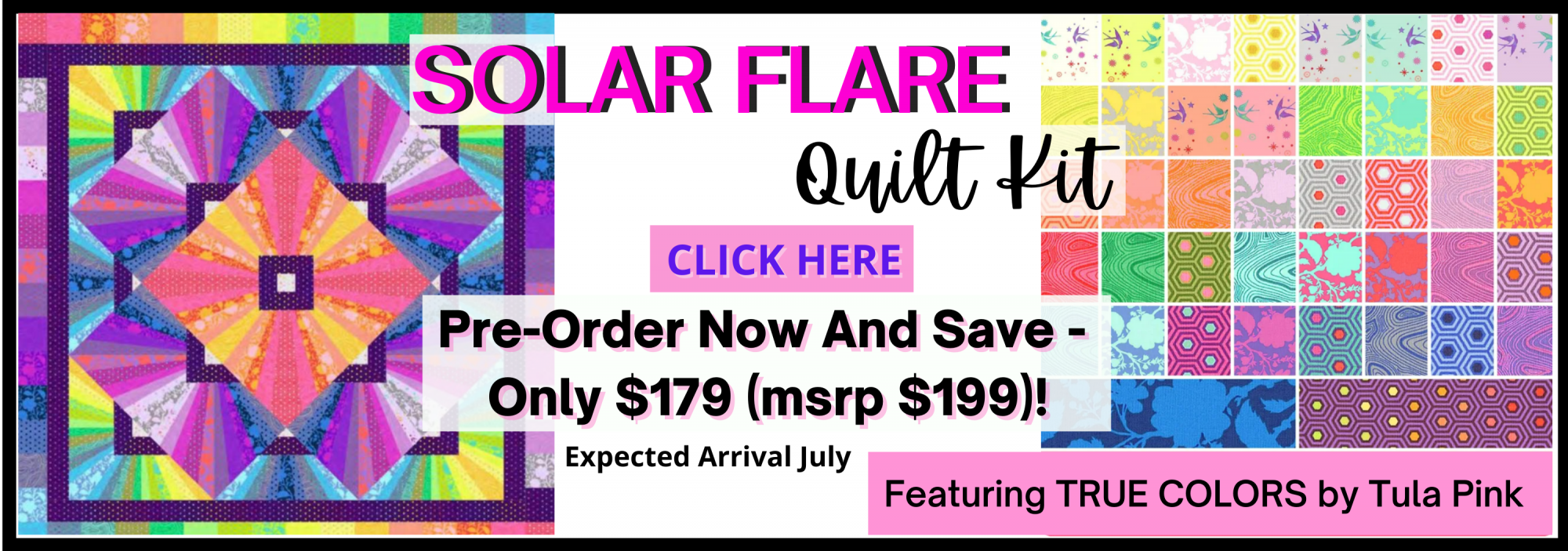 bee's quilt shop st augustine tula pink solar flare quilt kit
