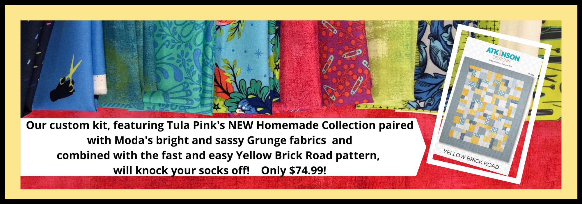 bee's quilt shop st augustine tula pink homemade fabric kit