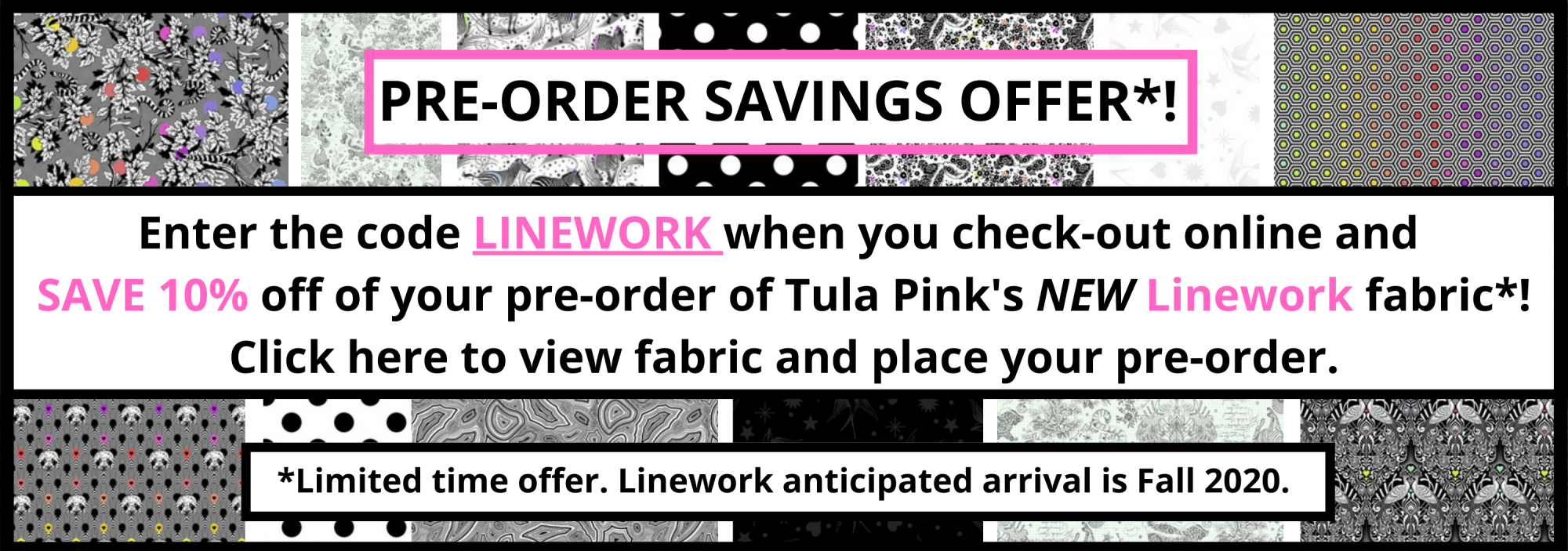 bee's quilt shop st augustine tula pink linework pre-order