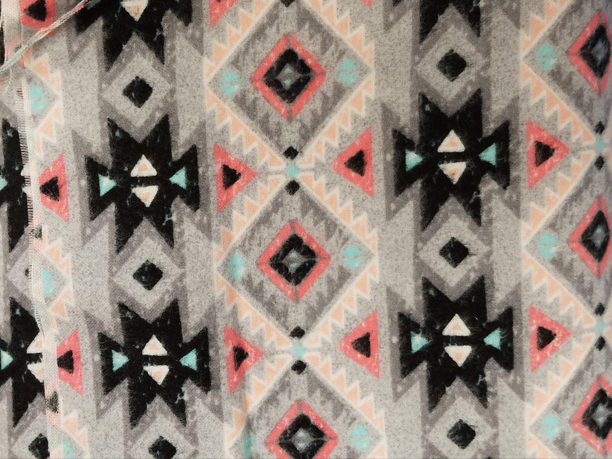 MAYW Pink Gray Turq Tribal