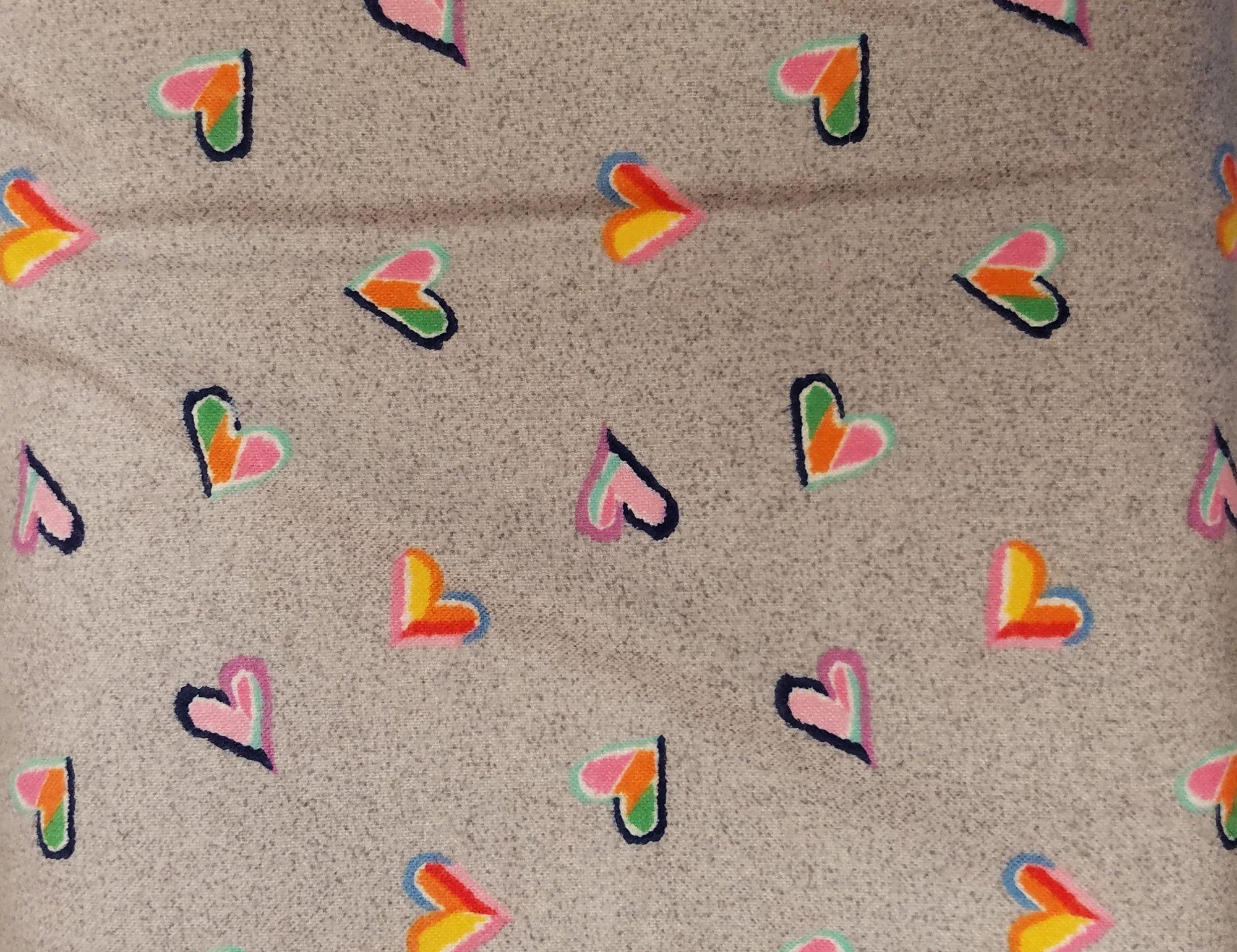 Mayw Tie Dye Hearts Gray