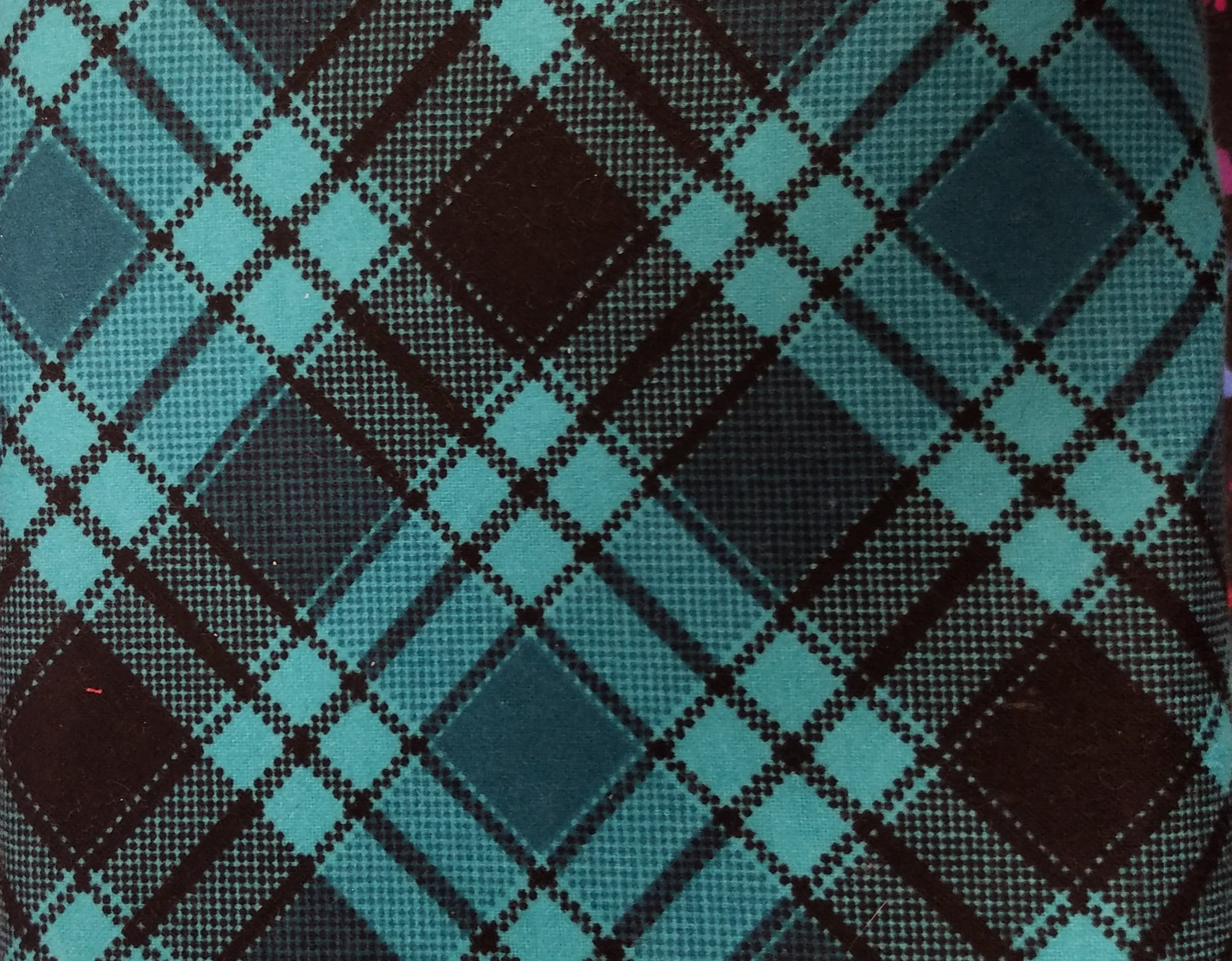 SPRI ANNIE Plaid  Aqua Black Plaid