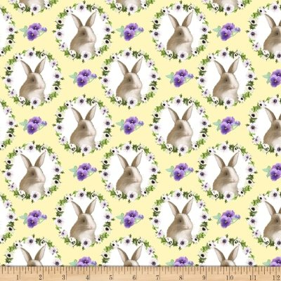 Yellow Bunny Faces 9424 44