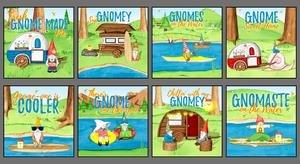 Hanginwmygno Gnome Blocks Panel 1443-70