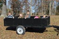 Clayton grandbabies in wagon 2014