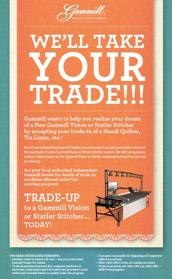 Gammill Trade-In February 2015