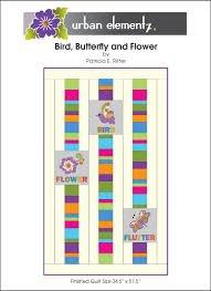 Bird, Butterfly, and Flower quilt pattern