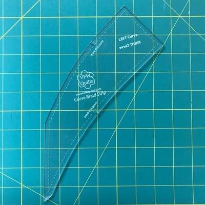 Curved Braid Strip Template