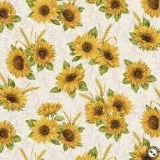 Accent of Sunflowers Sunflower Meadow Linen 10213 70