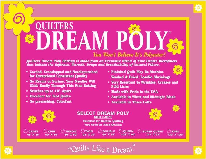 Dream Cotton Poly King Batting P4K