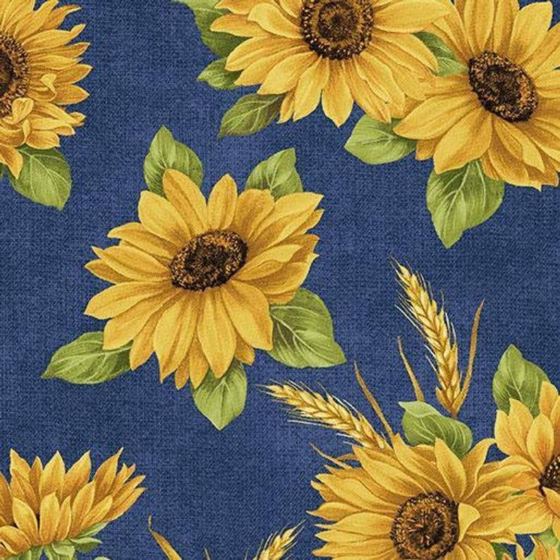 Accent of Sunflowers Sunflower Dance Blue 10214 51