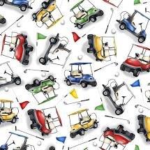 Backnine Tossed Golf Carts 1386-01