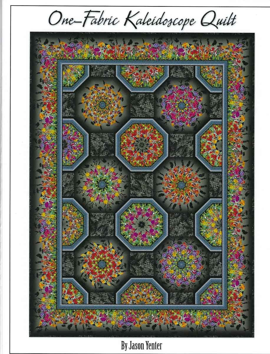 Dreamscapes II Black - One-Fabric Kaleidoscope Quilt Kit